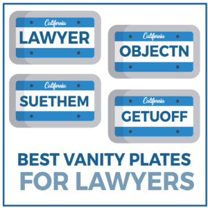 Best Vanity Plates for Lawyers